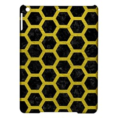 HEXAGON2 BLACK MARBLE & YELLOW LEATHER (R) iPad Air Hardshell Cases