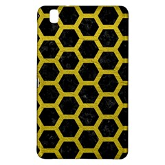 HEXAGON2 BLACK MARBLE & YELLOW LEATHER (R) Samsung Galaxy Tab Pro 8.4 Hardshell Case
