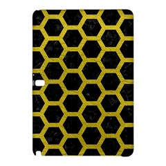 HEXAGON2 BLACK MARBLE & YELLOW LEATHER (R) Samsung Galaxy Tab Pro 12.2 Hardshell Case