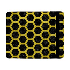 HEXAGON2 BLACK MARBLE & YELLOW LEATHER (R) Samsung Galaxy Tab Pro 8.4  Flip Case