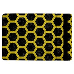 HEXAGON2 BLACK MARBLE & YELLOW LEATHER (R) iPad Air Flip