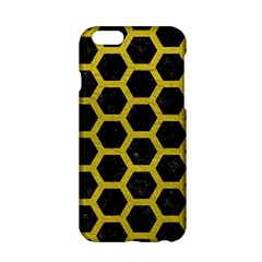 HEXAGON2 BLACK MARBLE & YELLOW LEATHER (R) Apple iPhone 6/6S Hardshell Case