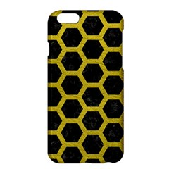 HEXAGON2 BLACK MARBLE & YELLOW LEATHER (R) Apple iPhone 6 Plus/6S Plus Hardshell Case