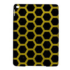 HEXAGON2 BLACK MARBLE & YELLOW LEATHER (R) iPad Air 2 Hardshell Cases