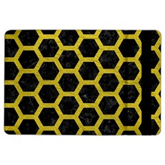 HEXAGON2 BLACK MARBLE & YELLOW LEATHER (R) iPad Air 2 Flip