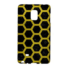 HEXAGON2 BLACK MARBLE & YELLOW LEATHER (R) Galaxy Note Edge