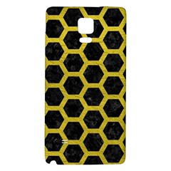 HEXAGON2 BLACK MARBLE & YELLOW LEATHER (R) Galaxy Note 4 Back Case