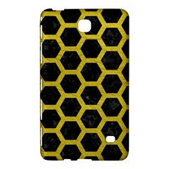 HEXAGON2 BLACK MARBLE & YELLOW LEATHER (R) Samsung Galaxy Tab 4 (7 ) Hardshell Case