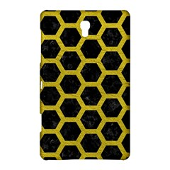 HEXAGON2 BLACK MARBLE & YELLOW LEATHER (R) Samsung Galaxy Tab S (8.4 ) Hardshell Case
