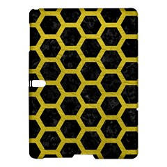 HEXAGON2 BLACK MARBLE & YELLOW LEATHER (R) Samsung Galaxy Tab S (10.5 ) Hardshell Case