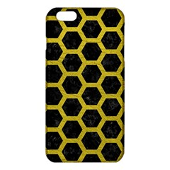 HEXAGON2 BLACK MARBLE & YELLOW LEATHER (R) iPhone 6 Plus/6S Plus TPU Case