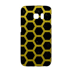 HEXAGON2 BLACK MARBLE & YELLOW LEATHER (R) Galaxy S6 Edge