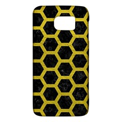 HEXAGON2 BLACK MARBLE & YELLOW LEATHER (R) Galaxy S6