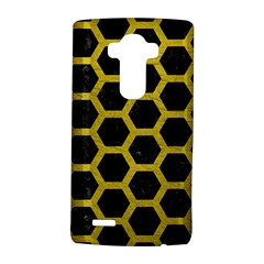 HEXAGON2 BLACK MARBLE & YELLOW LEATHER (R) LG G4 Hardshell Case