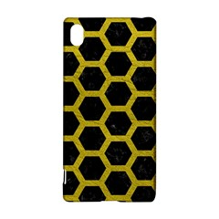 HEXAGON2 BLACK MARBLE & YELLOW LEATHER (R) Sony Xperia Z3+