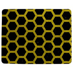 HEXAGON2 BLACK MARBLE & YELLOW LEATHER (R) Jigsaw Puzzle Photo Stand (Rectangular)