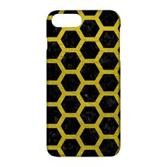 HEXAGON2 BLACK MARBLE & YELLOW LEATHER (R) Apple iPhone 7 Plus Hardshell Case