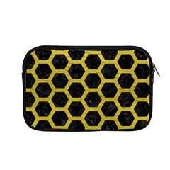HEXAGON2 BLACK MARBLE & YELLOW LEATHER (R) Apple MacBook Pro 13  Zipper Case