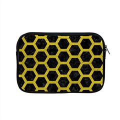 HEXAGON2 BLACK MARBLE & YELLOW LEATHER (R) Apple MacBook Pro 15  Zipper Case