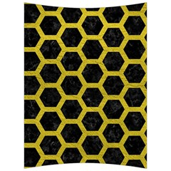 HEXAGON2 BLACK MARBLE & YELLOW LEATHER (R) Back Support Cushion