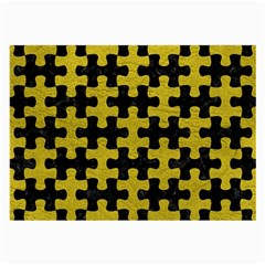 Puzzle1 Black Marble & Yellow Leather Large Glasses Cloth by trendistuff
