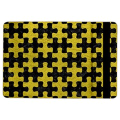Puzzle1 Black Marble & Yellow Leather Ipad Air 2 Flip