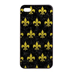Royal1 Black Marble & Yellow Leather Apple Iphone 4/4s Seamless Case (black) by trendistuff