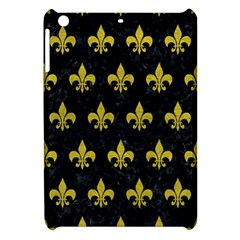 Royal1 Black Marble & Yellow Leather Apple Ipad Mini Hardshell Case by trendistuff