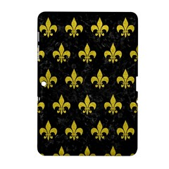 Royal1 Black Marble & Yellow Leather Samsung Galaxy Tab 2 (10 1 ) P5100 Hardshell Case  by trendistuff