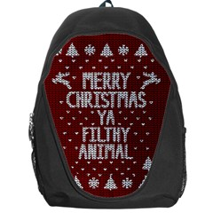 Ugly Christmas Sweater Backpack Bag