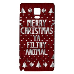 Ugly Christmas Sweater Galaxy Note 4 Back Case
