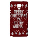 Ugly Christmas Sweater Galaxy Note 4 Back Case Front