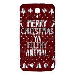 Ugly Christmas Sweater Samsung Galaxy Mega I9200 Hardshell Back Case by Valentinaart