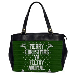 Ugly Christmas Sweater Office Handbags (2 Sides)  by Valentinaart
