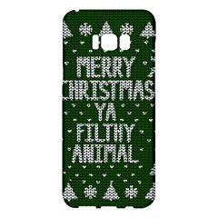 Ugly Christmas Sweater Samsung Galaxy S8 Plus Hardshell Case  by Valentinaart