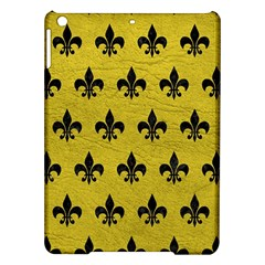 Royal1 Black Marble & Yellow Leather (r) Ipad Air Hardshell Cases by trendistuff