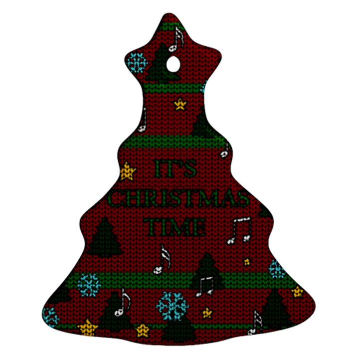 Ugly Christmas Sweater Christmas Tree Ornament (Two Sides)