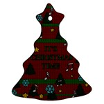 Ugly Christmas Sweater Christmas Tree Ornament (Two Sides) Back