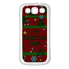 Ugly Christmas Sweater Samsung Galaxy S3 Back Case (white) by Valentinaart
