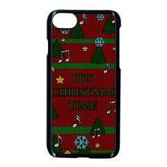Ugly Christmas Sweater Apple Iphone 7 Seamless Case (black) by Valentinaart