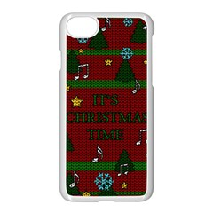 Ugly Christmas Sweater Apple Iphone 8 Seamless Case (white) by Valentinaart