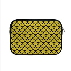 Scales1 Black Marble & Yellow Leather Apple Macbook Pro 15  Zipper Case by trendistuff