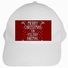 Ugly Christmas Sweater White Cap by Valentinaart