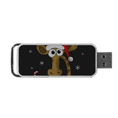 Christmas Giraffe  Portable Usb Flash (one Side) by Valentinaart