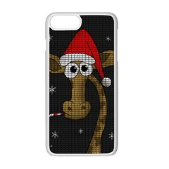 Christmas Giraffe  Apple Iphone 7 Plus Seamless Case (white) by Valentinaart