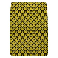 Scales2 Black Marble & Yellow Leather Flap Covers (s)  by trendistuff
