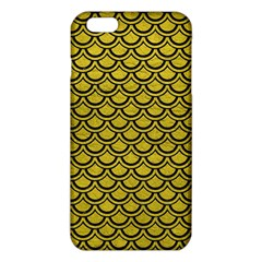 Scales2 Black Marble & Yellow Leather Iphone 6 Plus/6s Plus Tpu Case by trendistuff