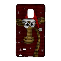 Christmas Giraffe  Galaxy Note Edge by Valentinaart