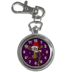 Christmas Giraffe  Key Chain Watches by Valentinaart