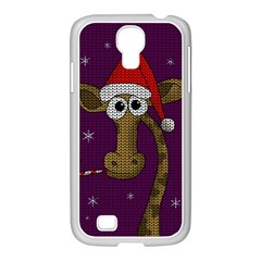 Christmas Giraffe  Samsung Galaxy S4 I9500/ I9505 Case (white) by Valentinaart